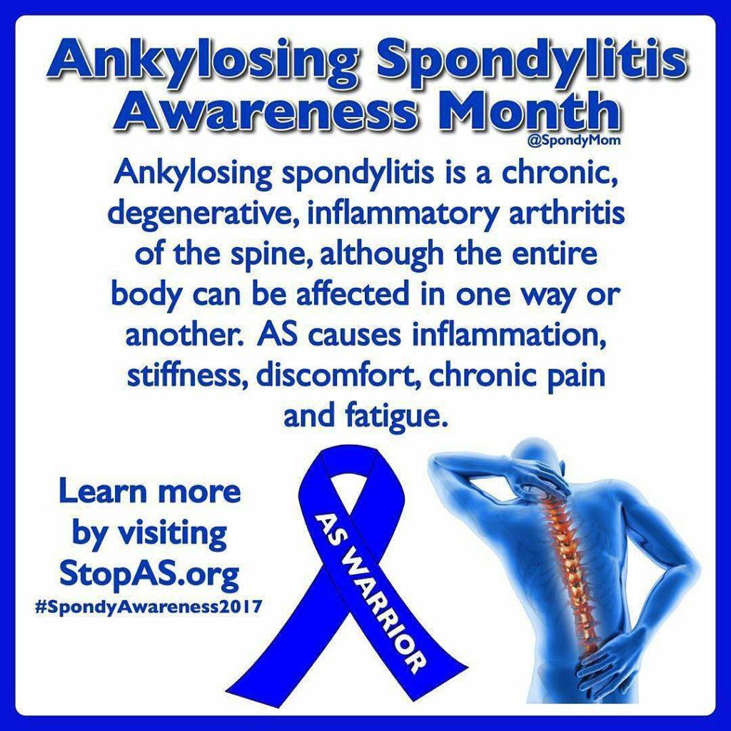 Ankylosing Spondylitis Awareness Month via SpondyMom on Instagram